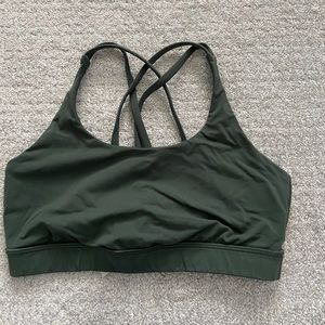 Dark green Lululemon Sports Bra